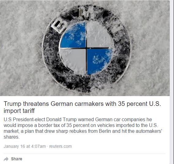 Trump's Messing With #Eurogang, Screw German Engineering