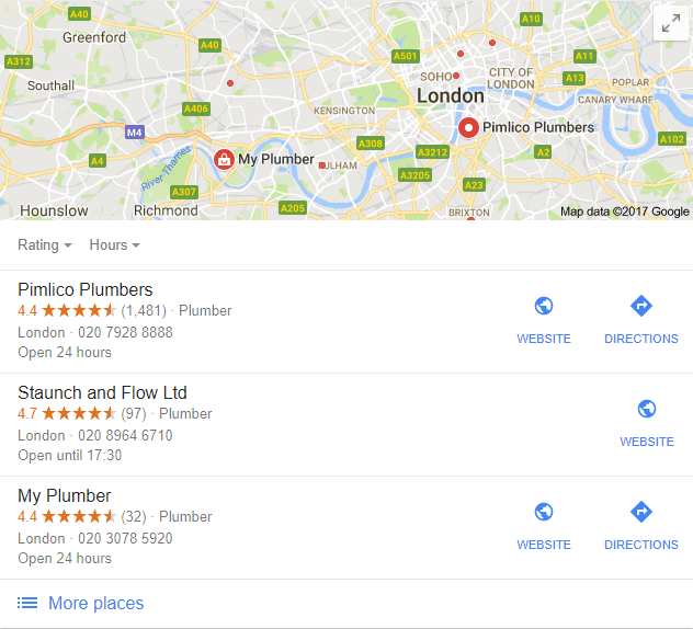local seo example from our local seo package
