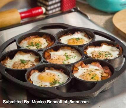Cast Iron Ham & Egg Cups