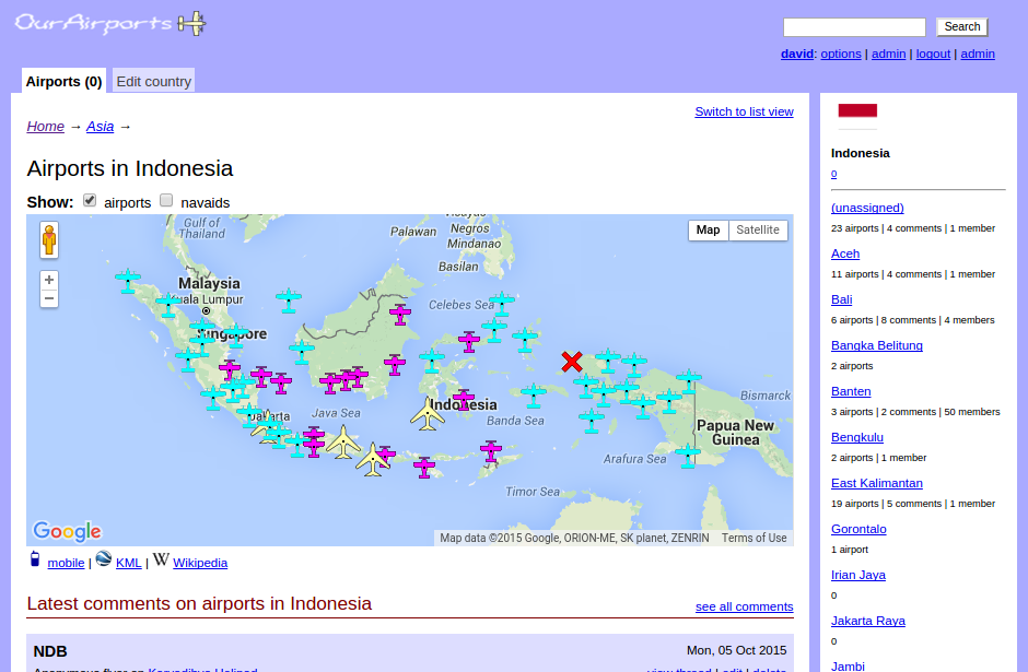Airports in indonesia humanitarian data exchange interactive map of airports in indonesia sciox Image collections
