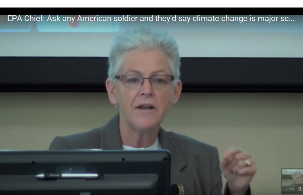 EPA Chief: Ask any U.S. soldier and 'they will tell you' 'climate change' is major 'national security' threat