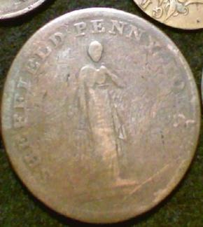 Sheffield Penny Token 1813 Overseers Of The Poor