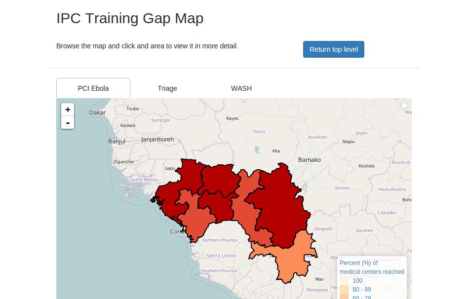 PCI Guinée : écart de formations (établissements)