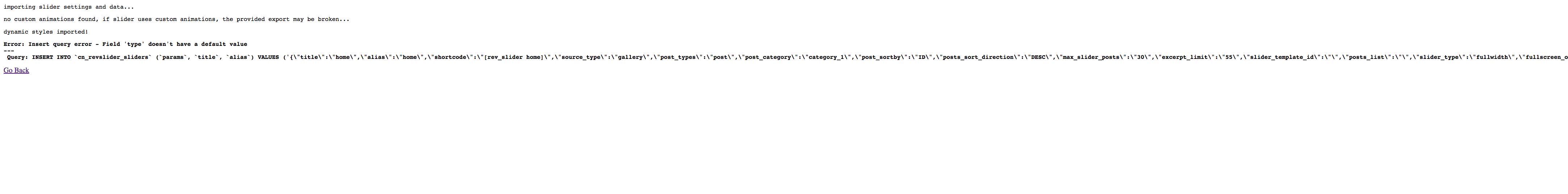 import slider error
