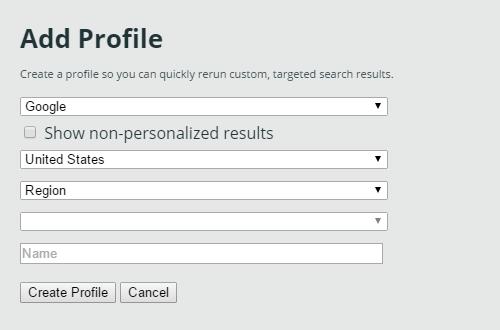 Moz Add profile screen