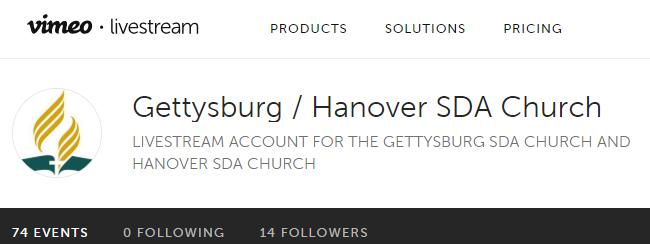Home : Gettysburg Seventh-day Adventist Church Gettysburg PA