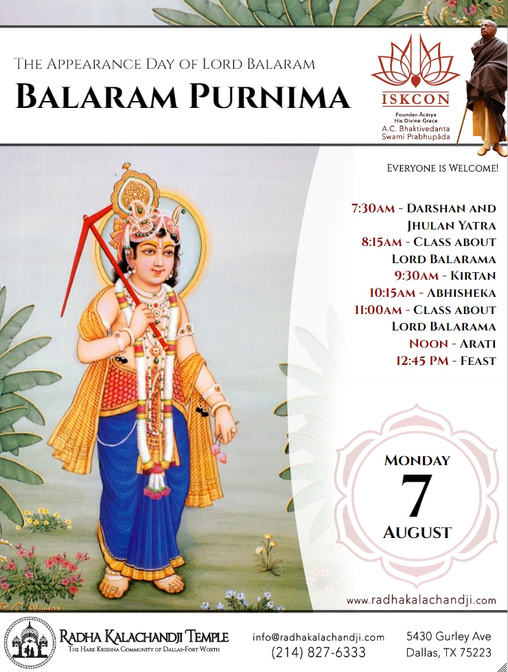 The Appearance Day of Lord Balarama