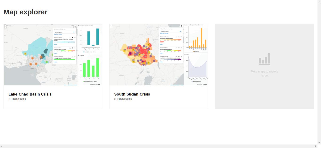 Screenshot of HDX Map Explorer.