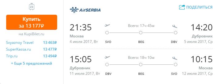 Дешевые авиабилеты Москва - Дубровник (Хорватия)