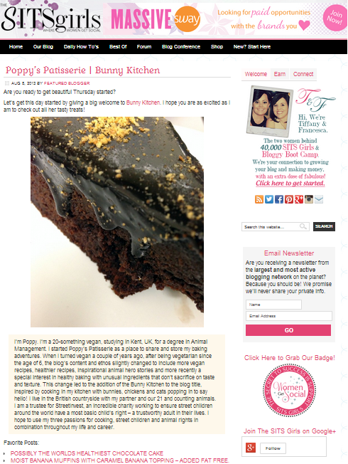 Poppy's Patisserie | Bunny Kitchen - The SITS Girls