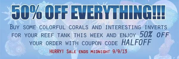 Half Off Everything at Marine Depot Live