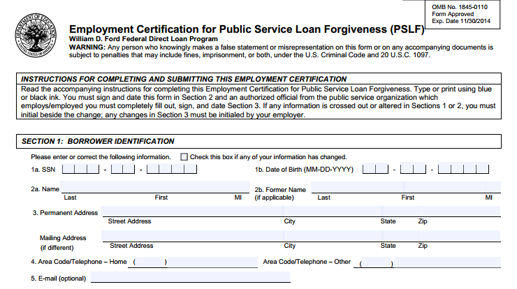 Critical Facts About Public Service Loan Forgiveness Programs – Students Loan Application Form