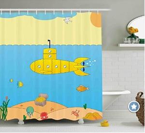 Beatles Yellow Submarine Shower Curtain for the Bathroom Decor