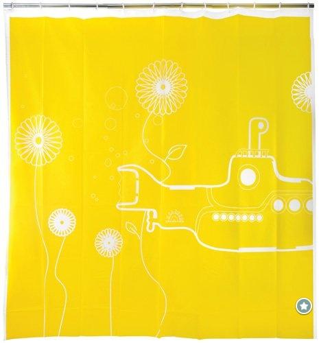 Funky Beatles Yellow Submarine Shower Curtain for the Bathroom Decor