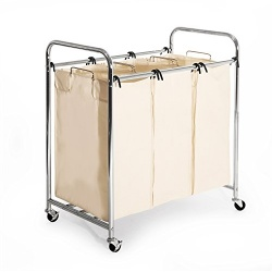 Best Heavy Duty 3-bag laundry sorter cart