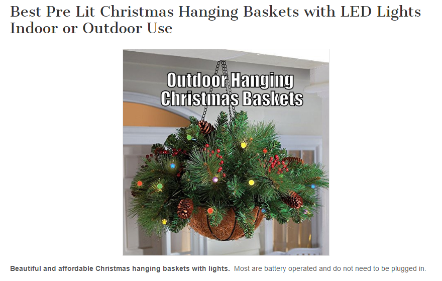 Christmas Hanging Baskets With Lights.Holiday Christmas Hanging Baskets With Lights For Indoor Or