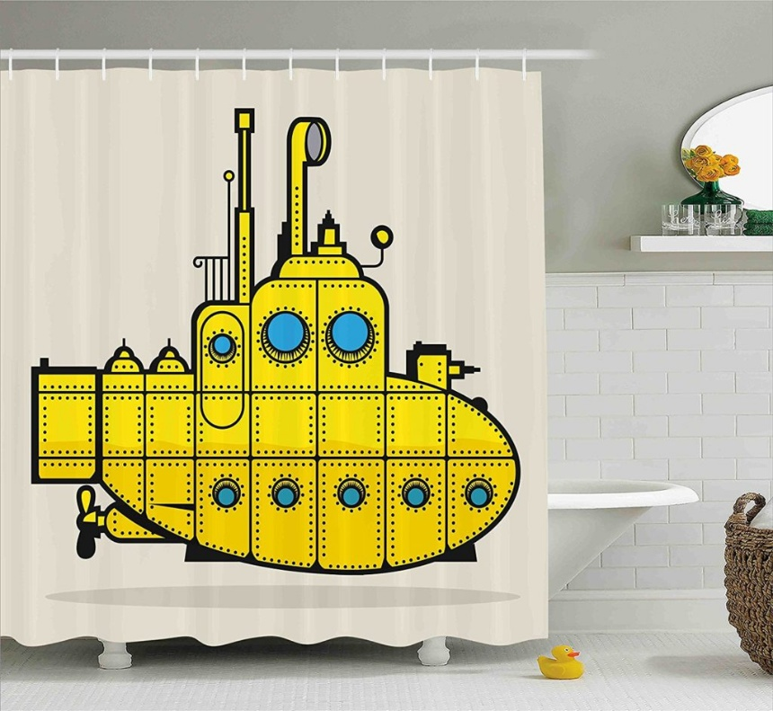 Best Yellow Submarine Shower Curtain Designs - Reviews - cover