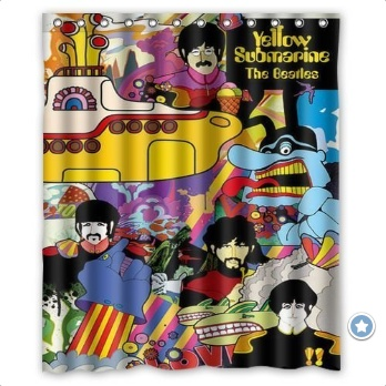 Beatles Yellow Submarine Shower Curtains for the Bathroom