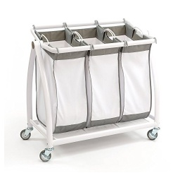 Best Heavy Duty 3 Bag Laundry Sorter Cart on Wheels