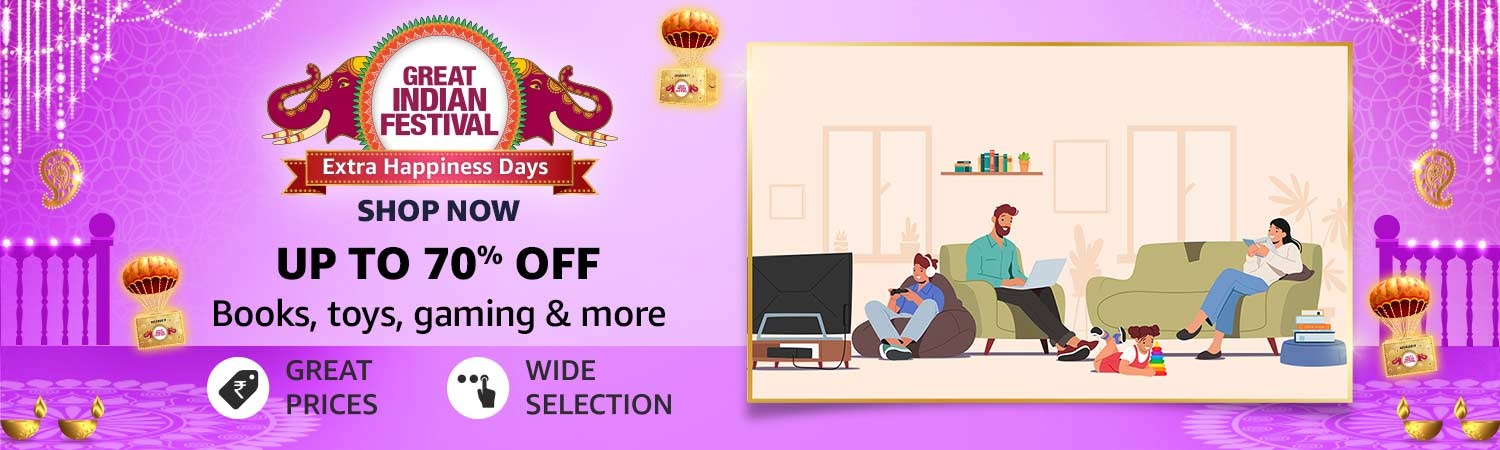 Upto 70% Off + Rs.200 Cashback on Rs.2000 on Books, Toys, Video games, Toys, Software, Music & Movies DVD