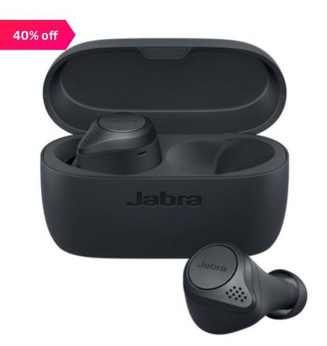 Jabra Elite 75t True Wireless Bluetooth Earbuds with Charging Case