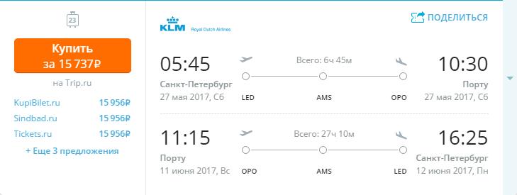 Дешевые авиабилеты Санкт-Петербург - Порту (Португалия)
