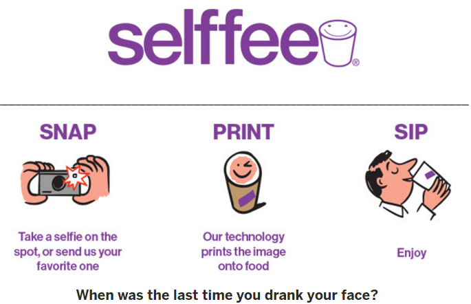 https://www.indiegogo.com/projects/selffee-the-edible-selfie#/