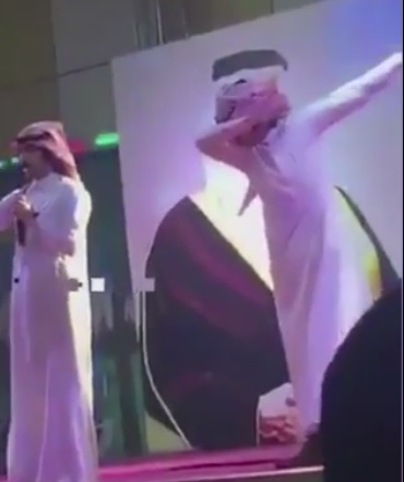 http://www.independent.co.uk/news/world/middle-east/saudi-arabia-dab-arrest-singer-abdallah-al-shaharani-dance-move-onstage-taif-festival-anti-narcotics-a7885686.html#gallery