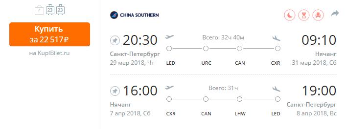 Дешевые авиабилеты Санкт-Петербург - Нячанг (Вьетнам)