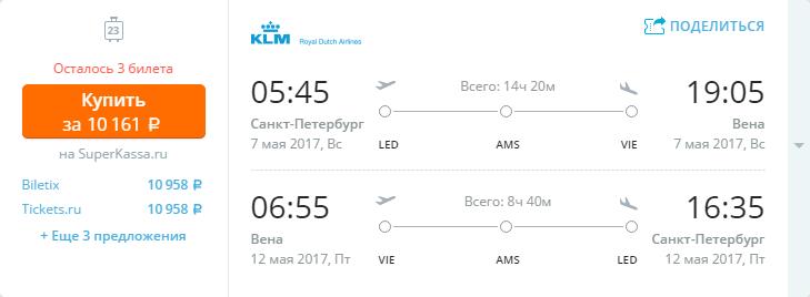 Дешевые авиабилеты Санкт-Петербург - Вена (Австрия)